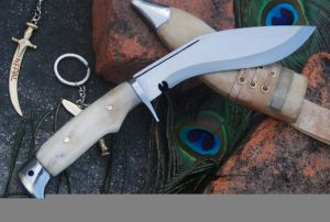 4 INCH AMERICAN EAGLE BONE HANDLE KUKRI