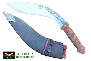 "11"" Traditional Carving Handle Khukuri"