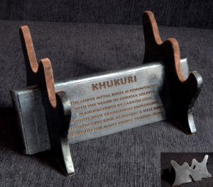Khukuri Engraved Display Stand