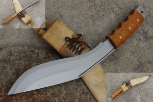 11 Inch Hand Forged Blade Afghan Gripper Handle Kukri