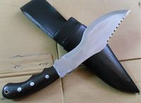 9 Inch Trackers Knife Left Handed Wooden Handle