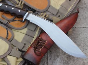 11 Inch Gurkha Afghan Brown Gripper blocker Handle Kukri