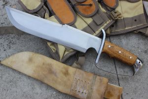 14 Inch Predator Machete D Guard Handle Bowie Knife