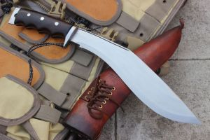 11 INCH GURKHA AFGHAN ISSUE BROWN GRIPPER BLOCKER HANDLE KUKRI