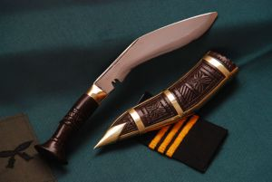 5 Inch Chinpure Carving Wooden Handle Kukri