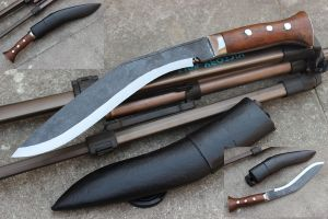 10 Inch Hand Forged Blade Panawal Black Gurkha Jungle Kukri