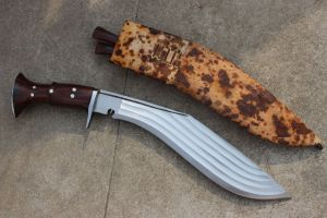 16 INCH HAND FORGED BLADE 5 FULLERS BUSHCRAFT KUKRI