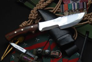 Fighter Panawal Knife with Buffalo Leather