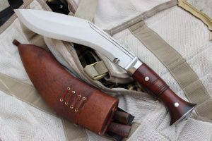 12 INCH HAND FORGED FULL TANG BLADE ANGKHOLA FARMER KUKRI